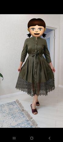 Платье цвет хаки