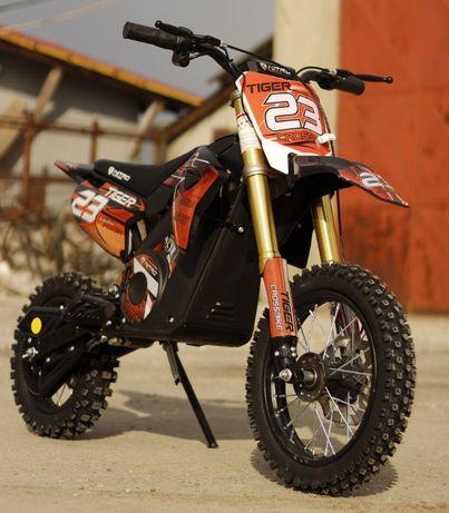 Motocicleta electrica pentru copii Eco Tiger 1000W 36V 12/10 #Orange
