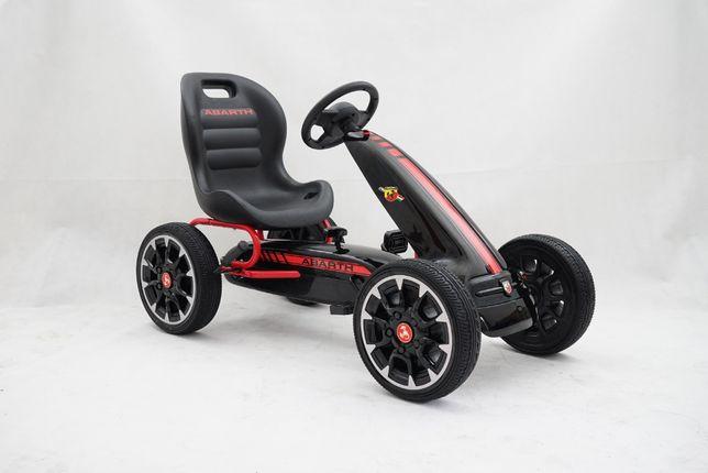 Masintua GO Kart cu pedale Pentru copii de la Fiat Abarth #Negru