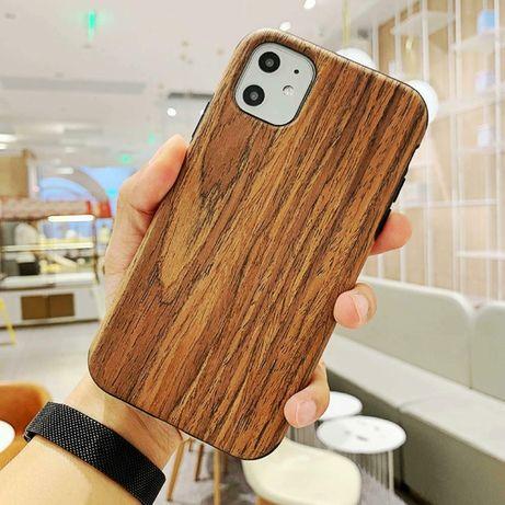 WOOD дървен кейс и каучук iPhone 11, 11 Pro, 11 Pro Max, X, XS, XS Max