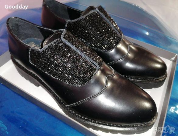 Дамски обувки от естествена кожа, номер 41.