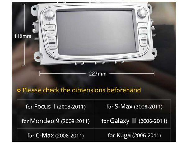 Dvd ford, navigatie ford, player auto ford, usb, radio, dedicat, Gri