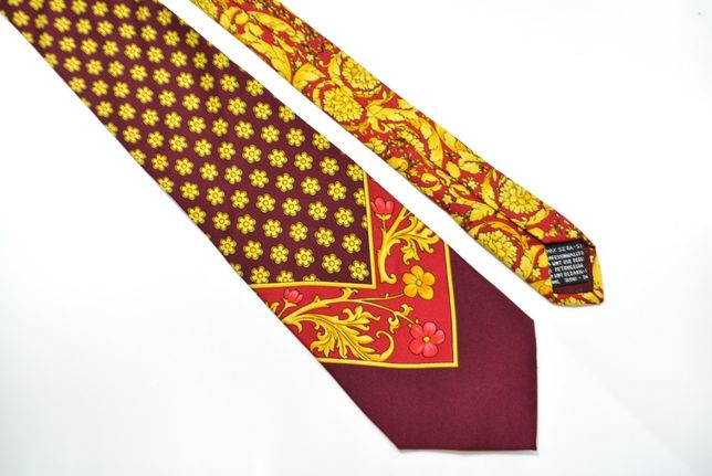 Cravata Barbati Gianni Versace 142 x 9.5 cm Auriu Visiniu Floral CR82