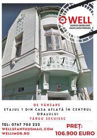 De vânzare etajul 1 din casa aflată în centrul orașului Târgu Secuiesc