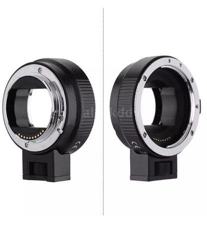 Переходник для Sony e mount Sony A7 A9 nex 6300 на canon EF ef-s