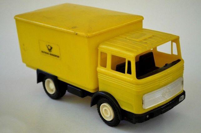 Jucarie veche Camion Posta Mercedes LKW cu reclama BUNDESPOSTE anii 70