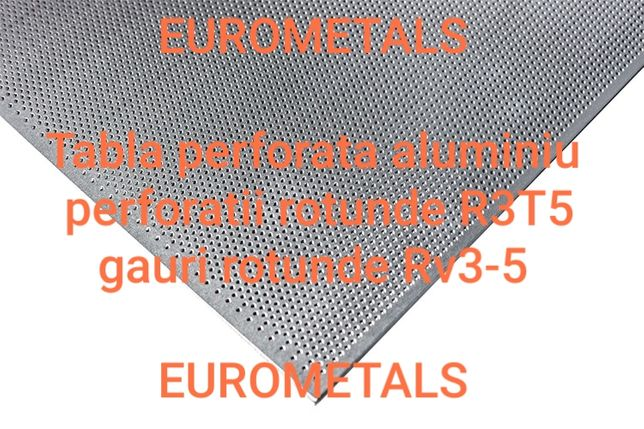 Tabla perforata aluminiu decorativa perforatie rotunda #1mm R3T5 Rv3-5