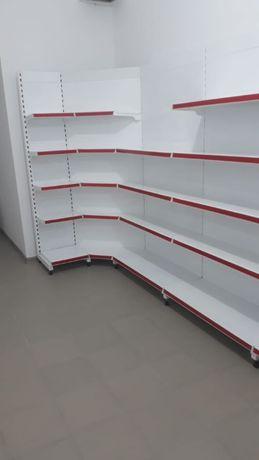 Торговые металлические стеллажи, полки для магазина