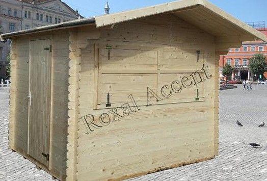 Casute pentru comert in piete, targuri, Chioscuri din lemn 2,8m x 2,5m