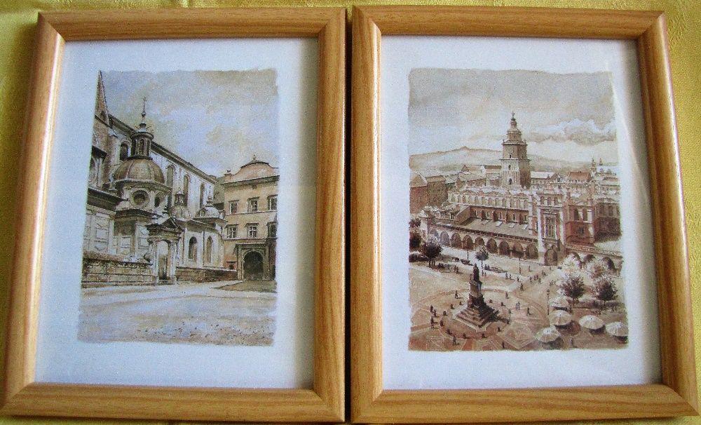 2 tablouri Cracovia, nesemnate, nedatate