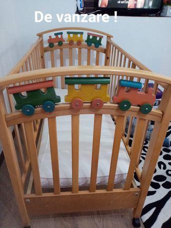 Patut de lemn bebe