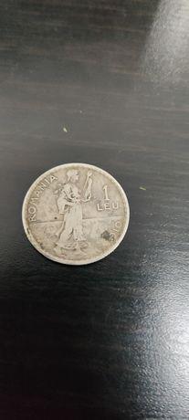 Moneda 1 leu argint Carol I