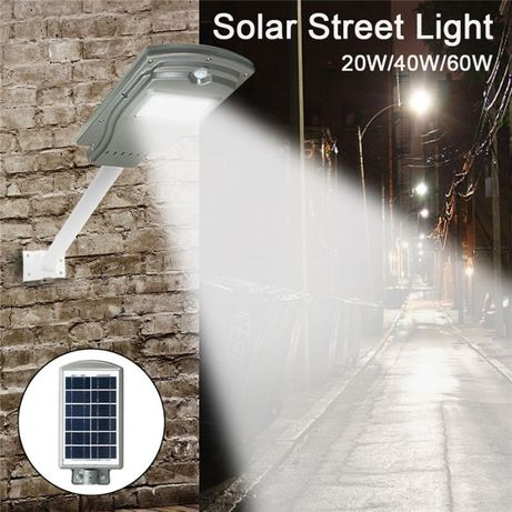 Spot solar 40 watt,panou solar,acumulatori,senzor zi/noapte,nou.