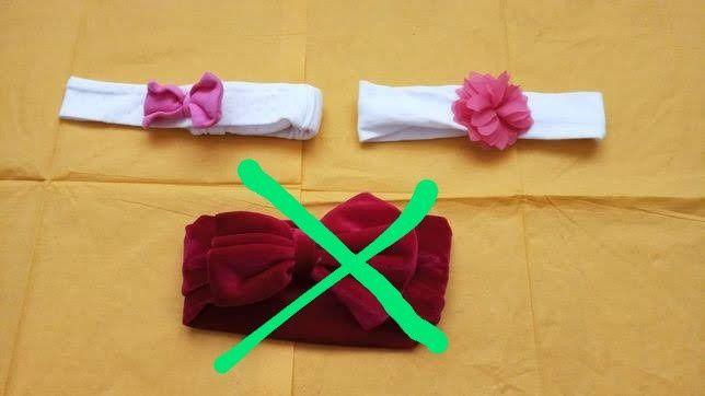 2 bentițe elastice, pt. fetițe(bebelușe);6lei si 4lei
