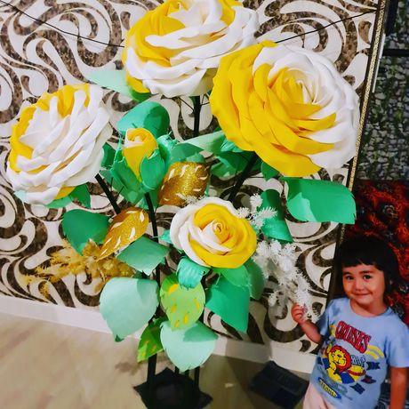 Роза 3Д  декоративный цветый