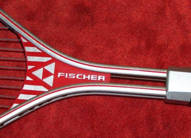 rachetă Fisher Lite Pro 4 1/2 L4 + cutie mingi Dunlop Fort + racordaj