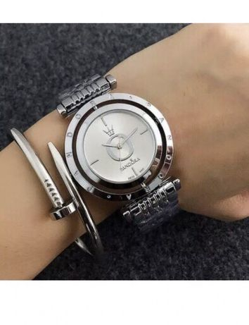 Ceas Pandora Superb cadran argintiu rotativ stil Fossil
