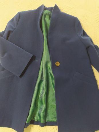 Лилаво палто (манто) - фино, леко, размер L