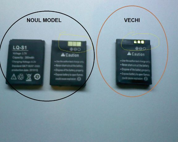 Baterii noi smartwatch ( LQ-S1 380mAh) pentru DZ09, A1, W8 etc