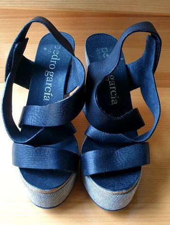 Sandale piele cu platformă, Pedro Garcia