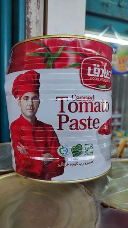 Оптом томат паста 3кг Иран 1450тг