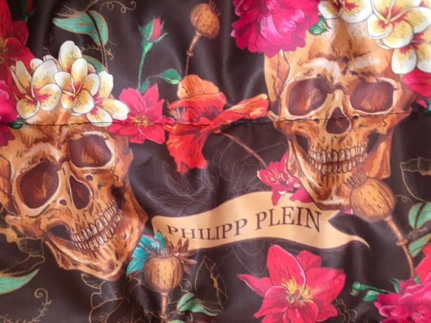 Vesta dama flori capete de mort logo-uri PP 2 buzunare