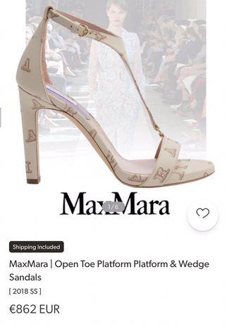 sandale max mara piele naturala