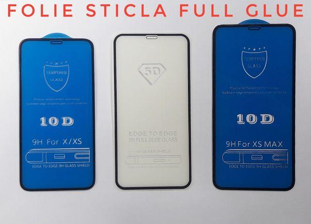 Folie sticla full iphone 5 6 7plus 8 x xs 11 pro max xr nokia 5 6 2018