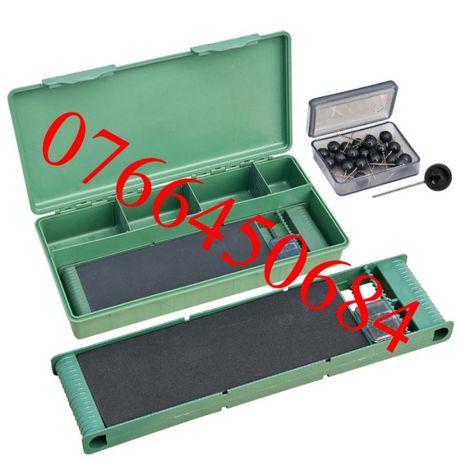 Cutie pescar Baracuda Carp Box 006, 340x160x60 mm, verde