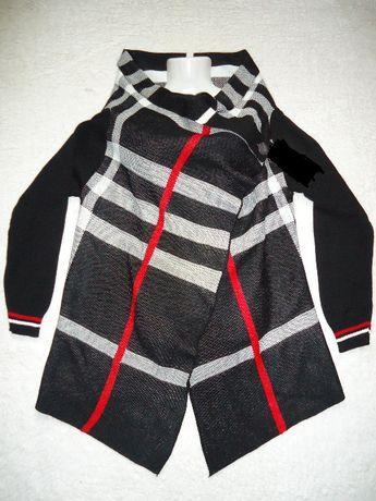 Cardigan negru dama pardesiu poncho femei jacheta tricotaj