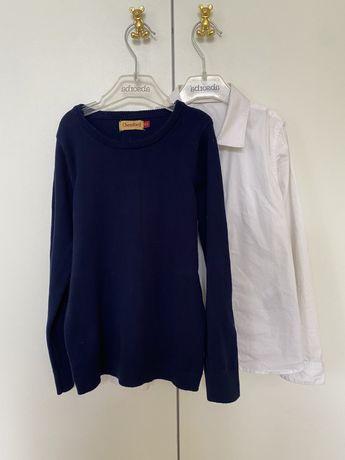 Рубашка и пуловер