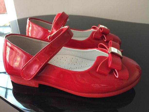 Pantofi de lac, rosii- fetita