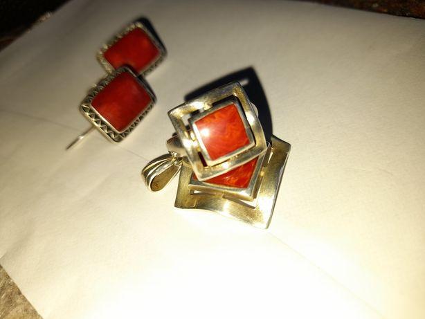 Set de bijuterii din argint: cercei,inel,pandant