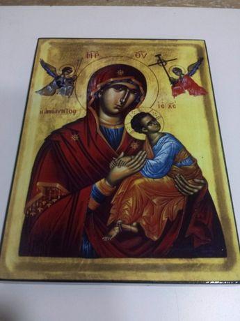 Vand icoana litografiata Maica Domnului