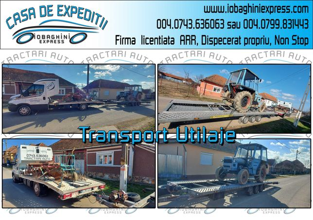 Transport / Tractari / Platforma / Autoutilitare / Utilaje / Rulote