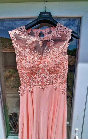 Официална рокля Прасковен цвят