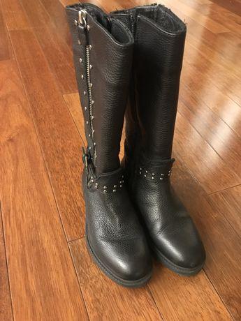 Сапоги кожаные детские зимние в отличном состоянии. Размер 32.