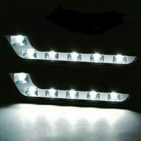 ТОП! НОВИ! LED DRL 12V 6000K дневни светлини ( халогени ) COB Mercedes