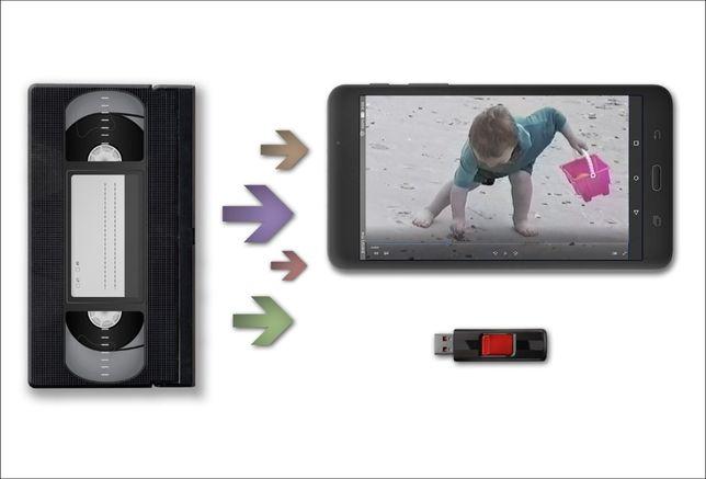 Transfer digital casete video VHS/ VHS-C pe DVD/USB/HARD