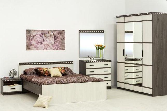 Комплект мебели для спальни Ольга 13, Ясень Анкор светлый