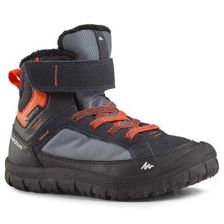 Детски непромокаеми туристически обувки за преходи SH500 warm, с велкр