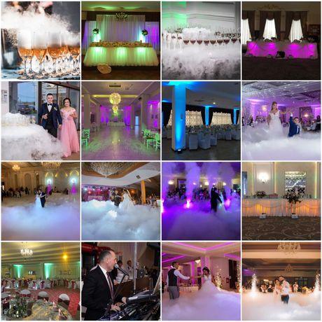 Dj nunta, sonorizare, schela lumini, gheata carbonica si artificii.