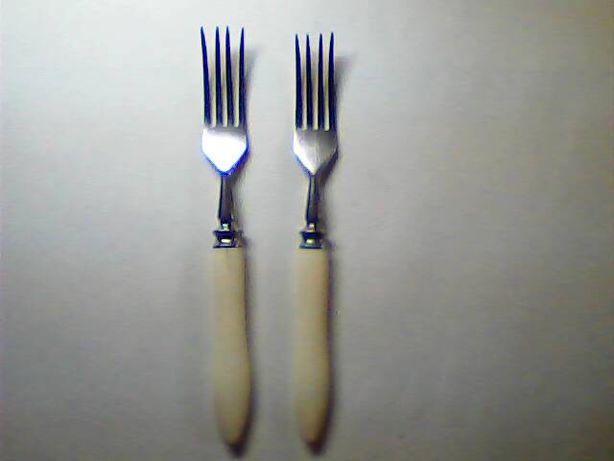 Вилки СССР из нержавейки с костяной ручкой 2 шт
