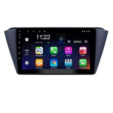 Navigatie Android 10.0 SKODA FABIA III fabricat 2014+ GPS WAZE 9 inchi