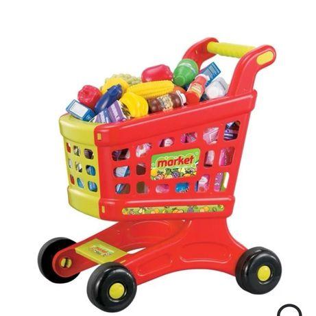 Детска количка за супермаркет с покупки със звук и светлина Детски игр