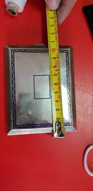 Tabachera 170 grame argint ,portmoneu/portcard marcat, gravat antic