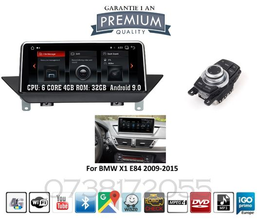 Navigatie Android 9 BMW X1 E84 GPS Wi Fi Bluetooth Camera marsarier
