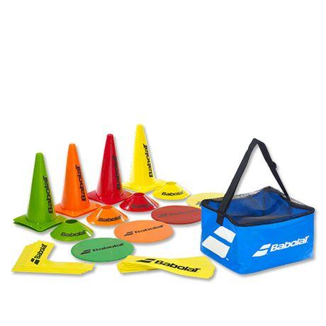 BabolatMini Tennis Kit(jaloane+linii teren tenis rosu)