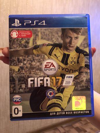 Диск на ps4 FIFA 17-3000тг. Можно Обмен