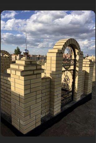 Кирпич Гиперпрессованный М-300, М350. На Мазар, Дом, Забор. Караганда.